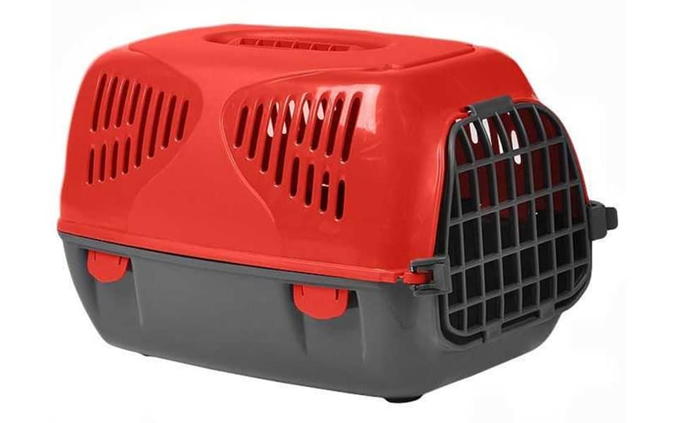 Cutie transport cățel MPS Sirio roșie.