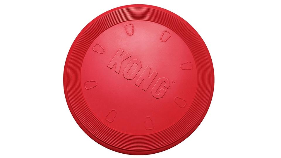 Frisbee cățel KONG Rubber Flying Disc roșu.