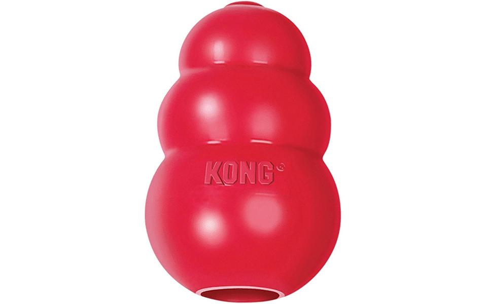 Jucărie pentru câini Kong Classic roșie.