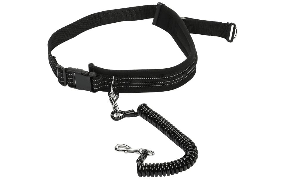Lesă pentru câini Kerbl Jogging neagră.