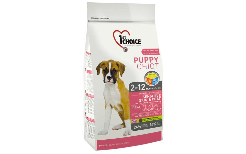 Sac cu mâncare de câine 1st Choice Sensitive Skin & Coat.