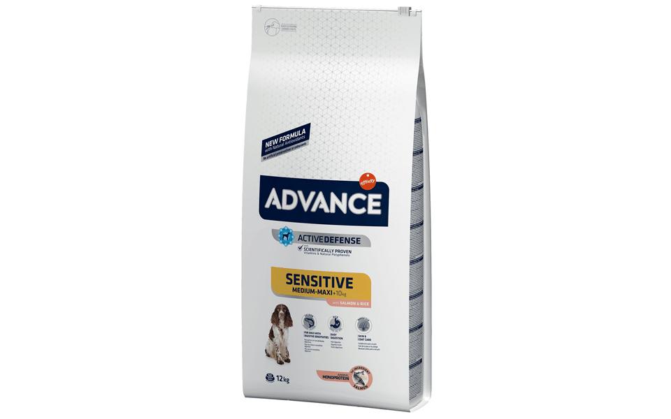 Sac cu mâncare de câine Advance Sensitive, Somon & Orez