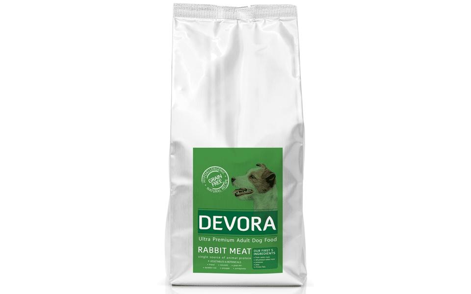 Sac cu mâncare de câine Devora Grain Free cu iepure