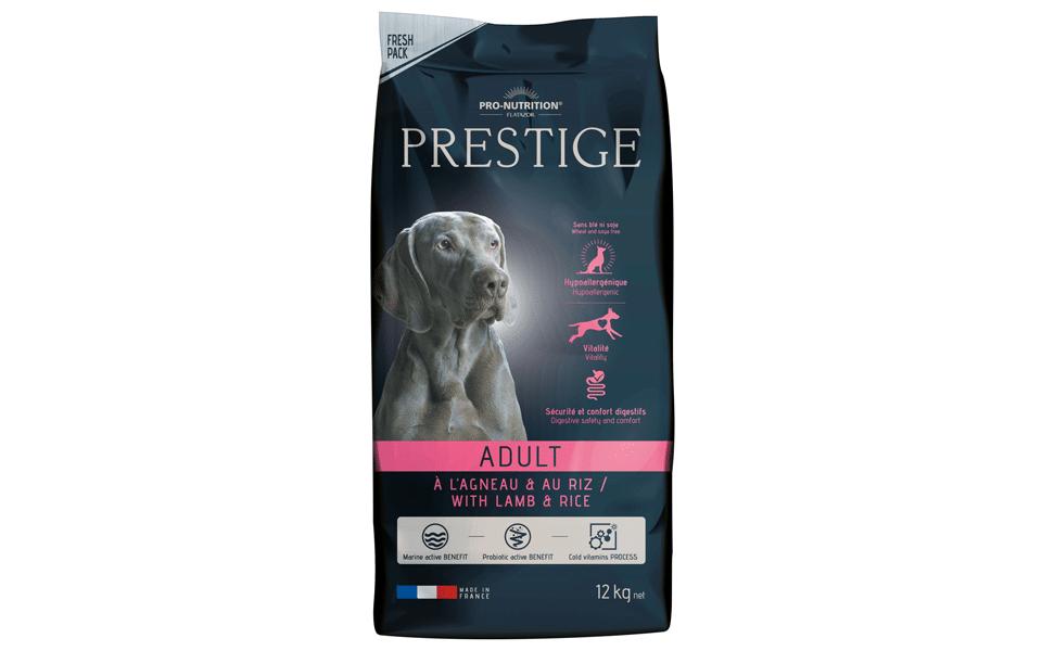 Sac cu mâncare de câine Prestige Adult cu Miel şi Orez