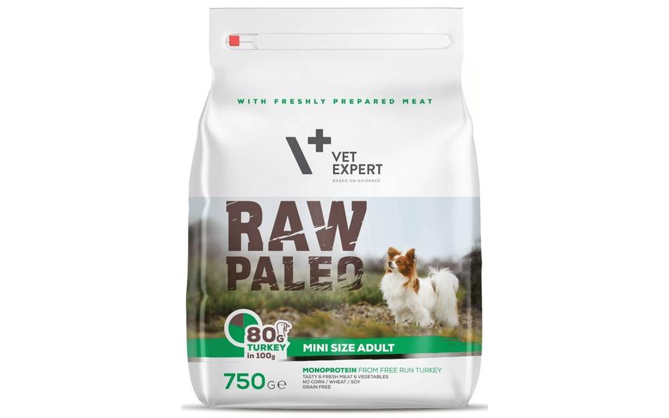Sac cu mâncare de câine Raw Paleo.