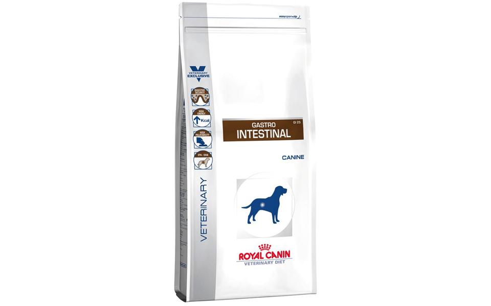 Sac cu mâncare de câine Royal Canin Gastro Intestinal.
