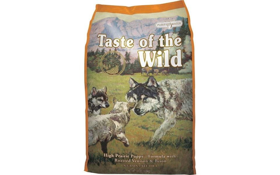 Sac cu mâncare de câine Taste of the Wild High Prairie Puppy Formula