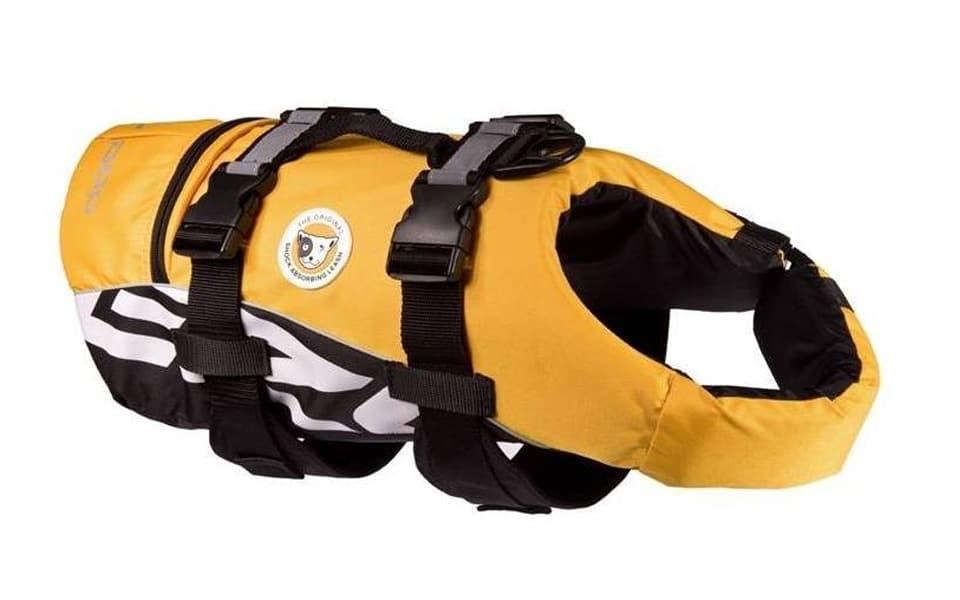 Vestă de salvare pentru câini Ezydog Doggy galbenă.