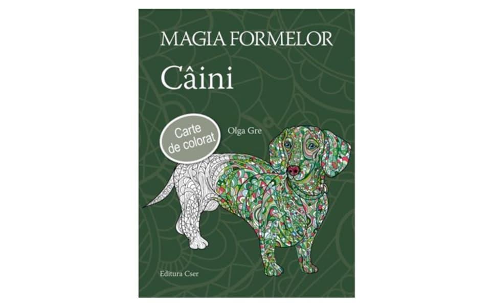 Carte de colorat câini Magia formelor.
