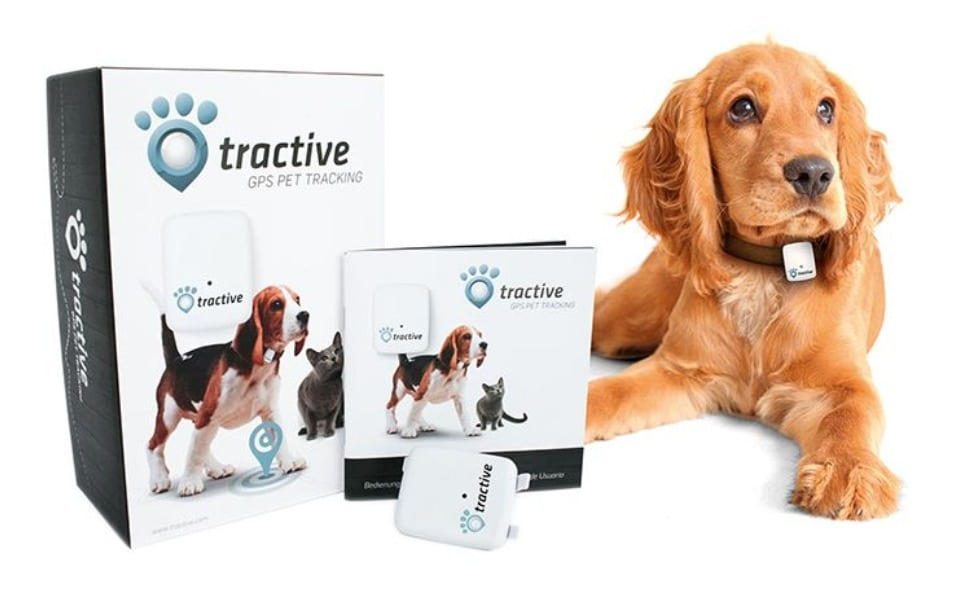 Dispozitiv localizare GPS Tractive Pet Tracking pentru câini.