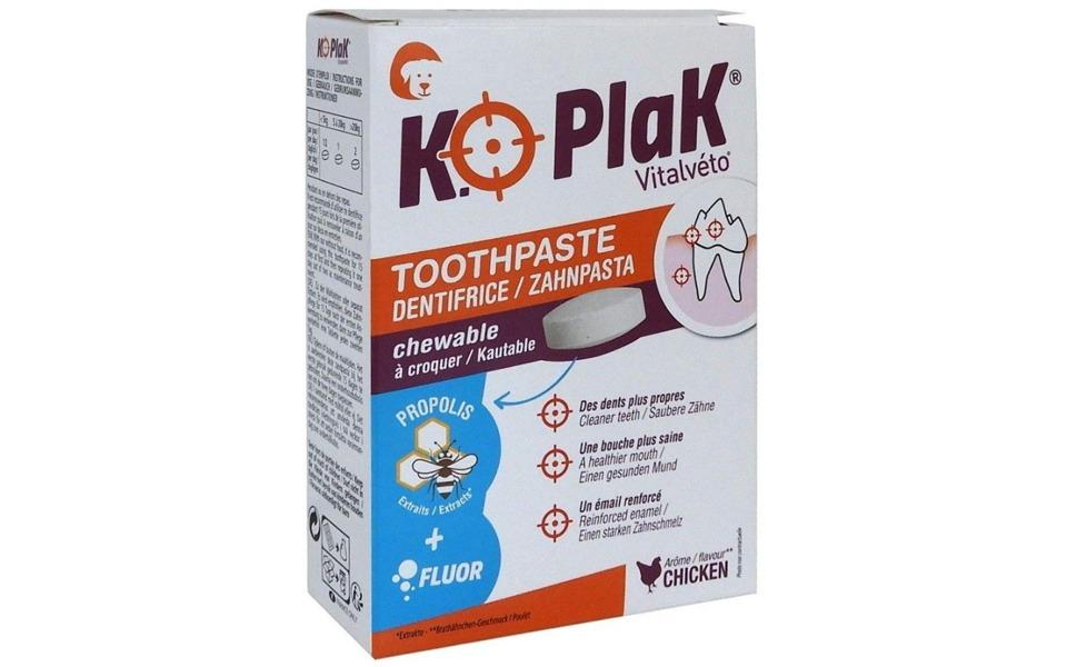 Cutie pastă dinți pentru câini KO Plak-BIO 000034.