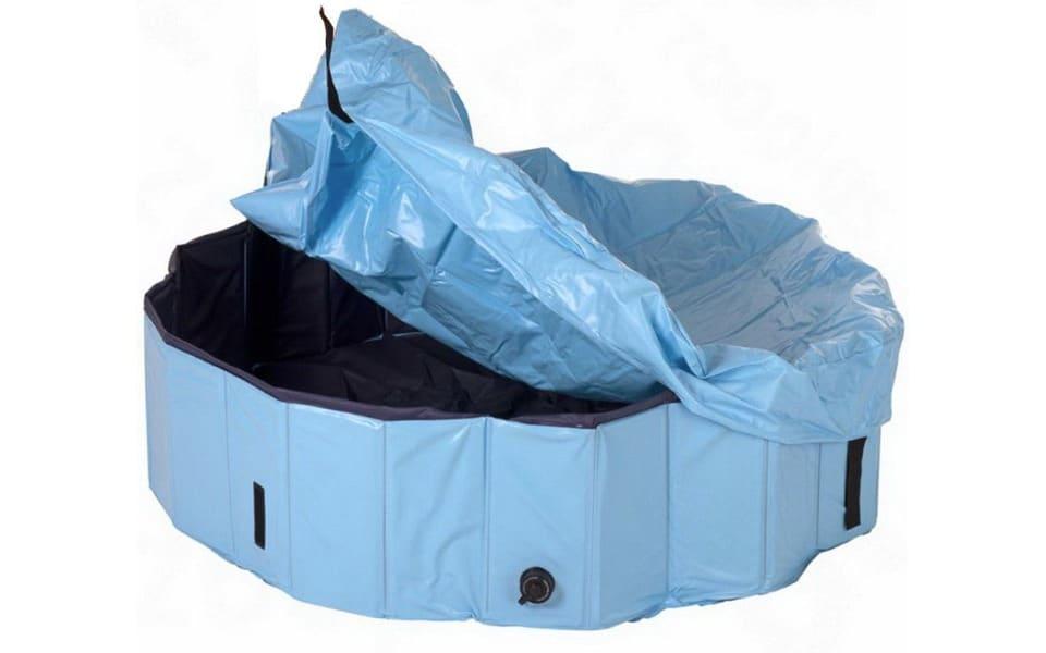 Piscină pentru câini acoperită Trixie albastră.