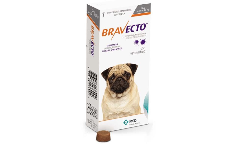 Cutie produs anti purici și căpușe Bravecto.