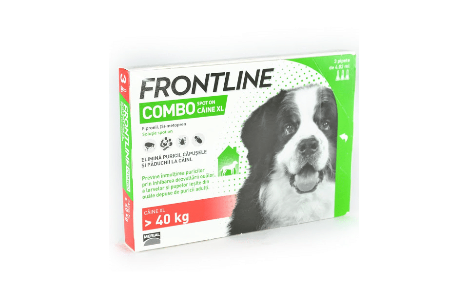 Cutie produs anti purici și căpușe Frontline Combo