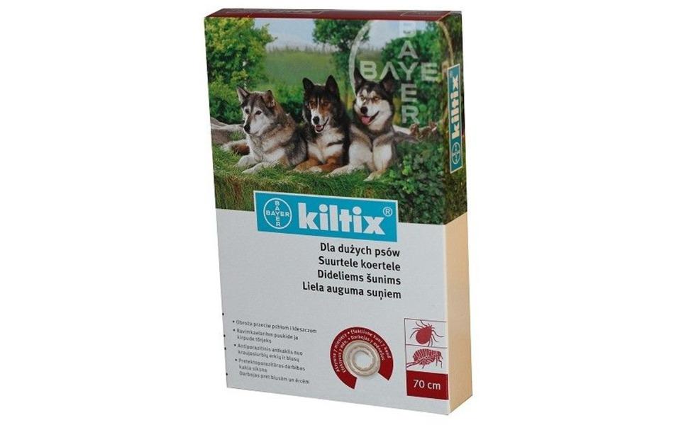 Cutie zgardă anti purici pentru câini Kiltix.