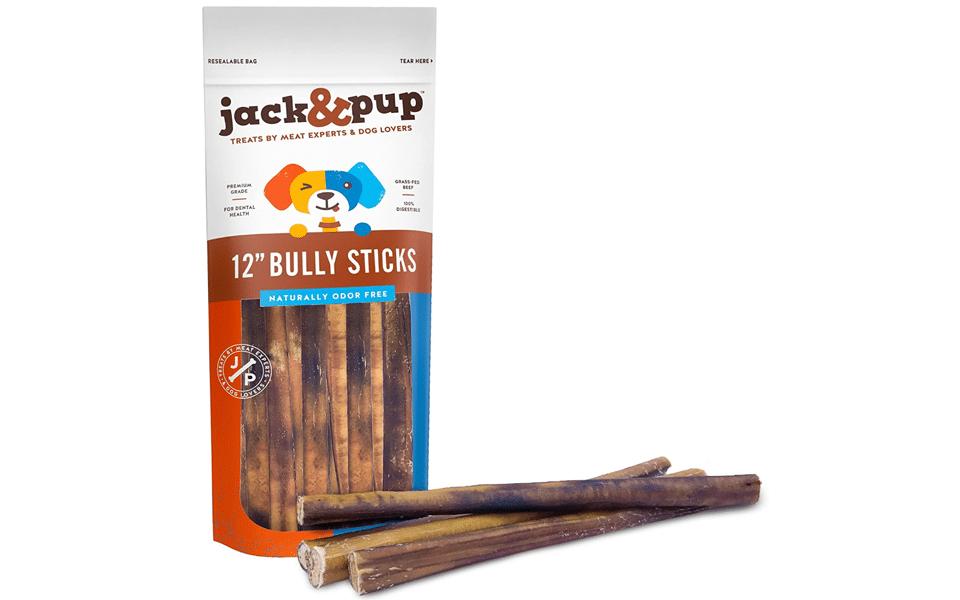 Punga cu batoane de vita pentru caini Jack&Pup.