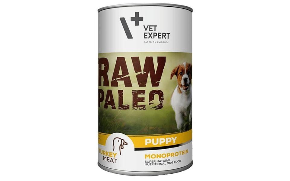 Conserva cu mancare pentru caini Raw Paleo Puppy.