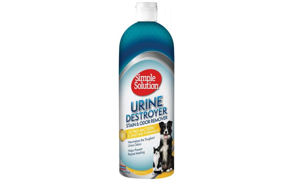 Solutie indepartare mirosuri si pete animale Urine Destroyer Simple Solution.