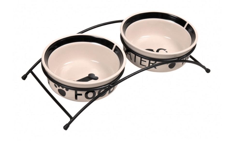 Set 2 castrone ceramice în suport Trixie