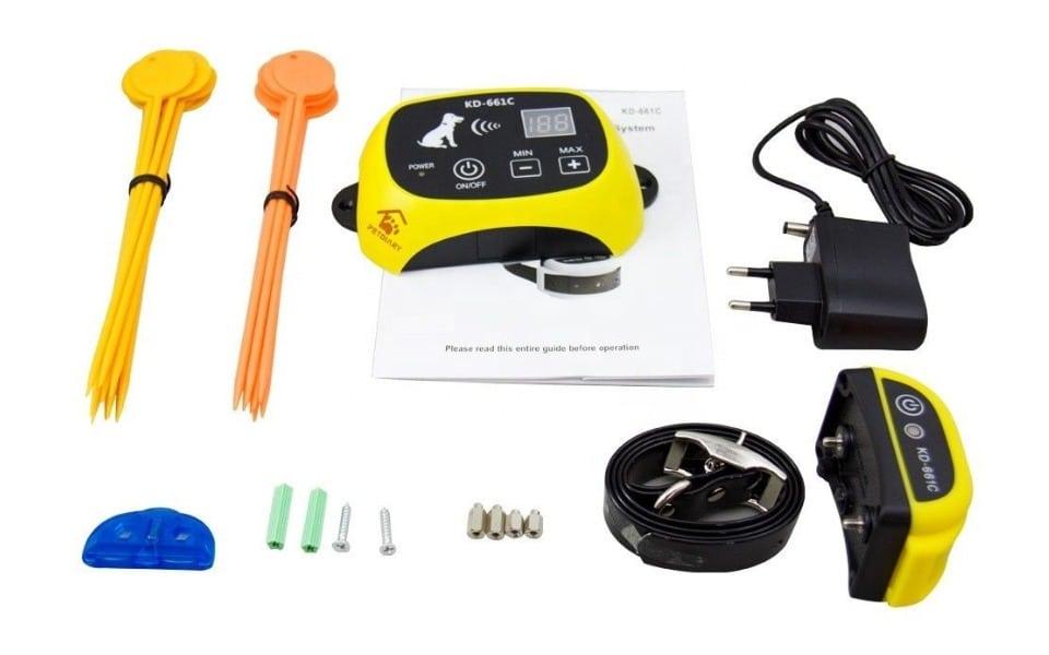 Kit gard electric pentru animale Wellturn Petdiary KD-661C.