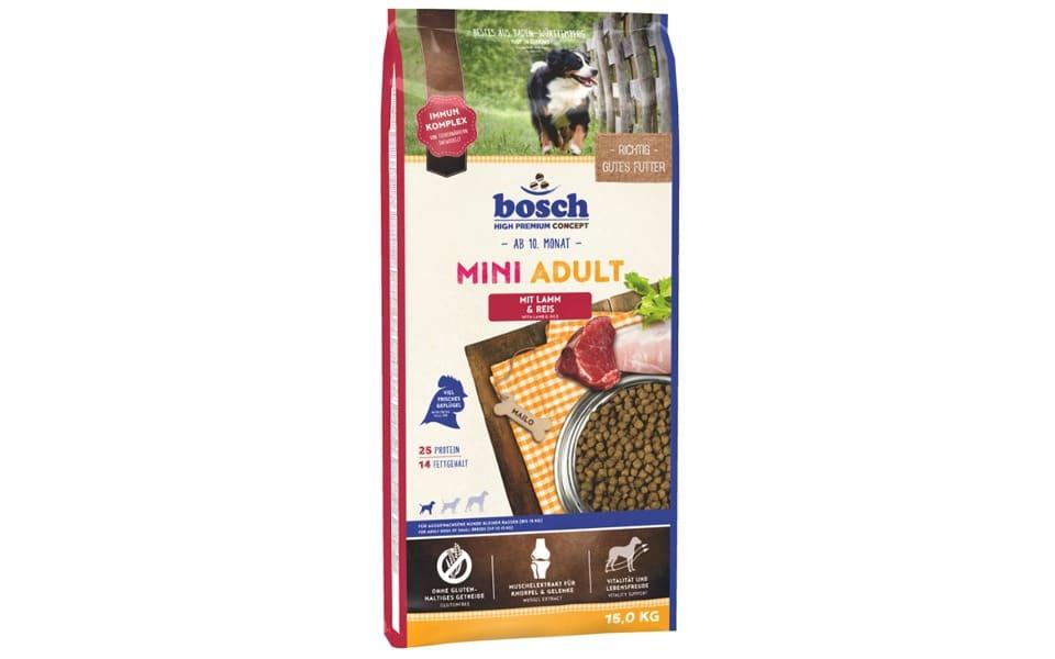 Punga cu mancare pentru caini Bosch Adult Mini.