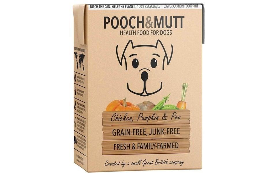 Cutie cu mancare pentru caini Pooch & Mutt.