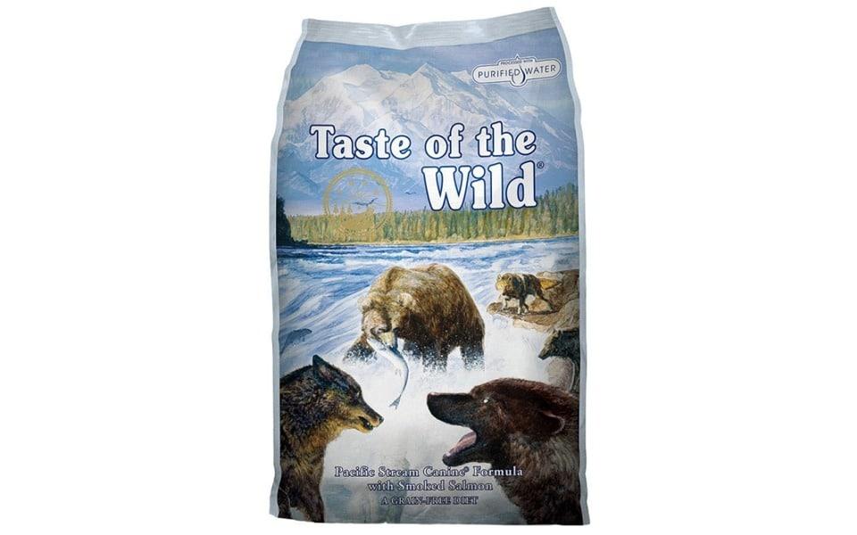 Punga cu mancare pentru caini Taste of the Wild Pacific Stream.