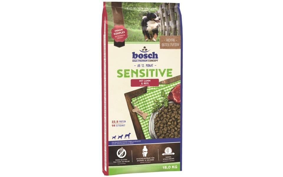 Sac cu mancare pentru caini Bosch Sensitive.
