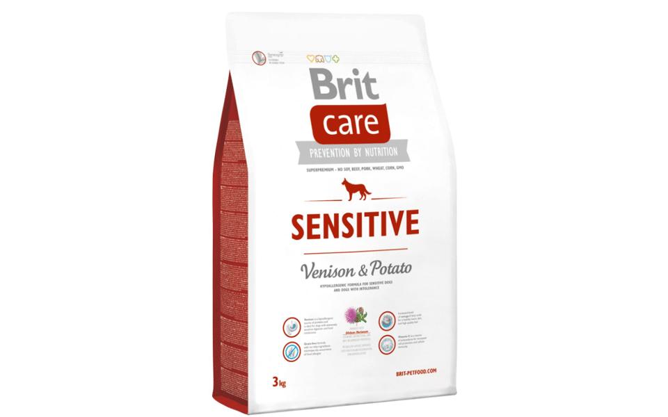 Punga cu mancare pentru caini Brit Care Sensitive.