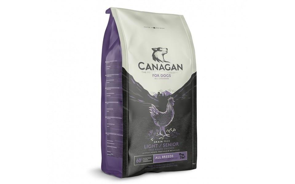 Sac cu mancare pentru caini Canagan Adult Light Senior.