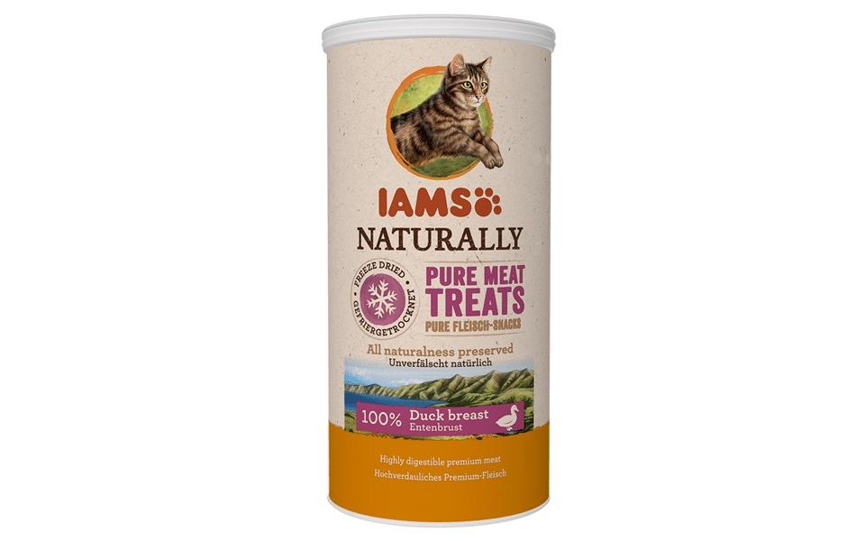 Tub recompense pentru pisici Iams Naturally Freeze Dried.
