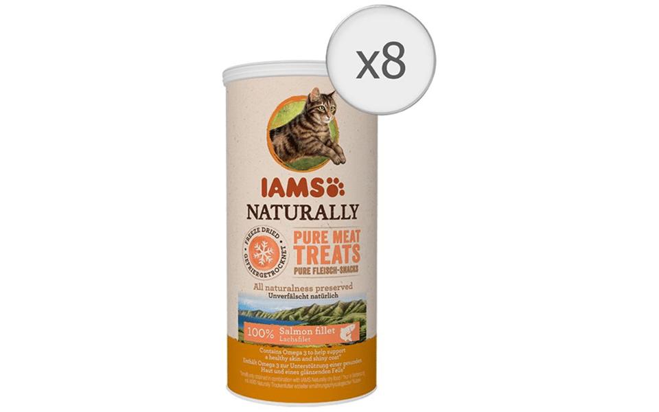 Conserva cu recompense pentru pisici Iams Naturally Freeze Dried Somon.