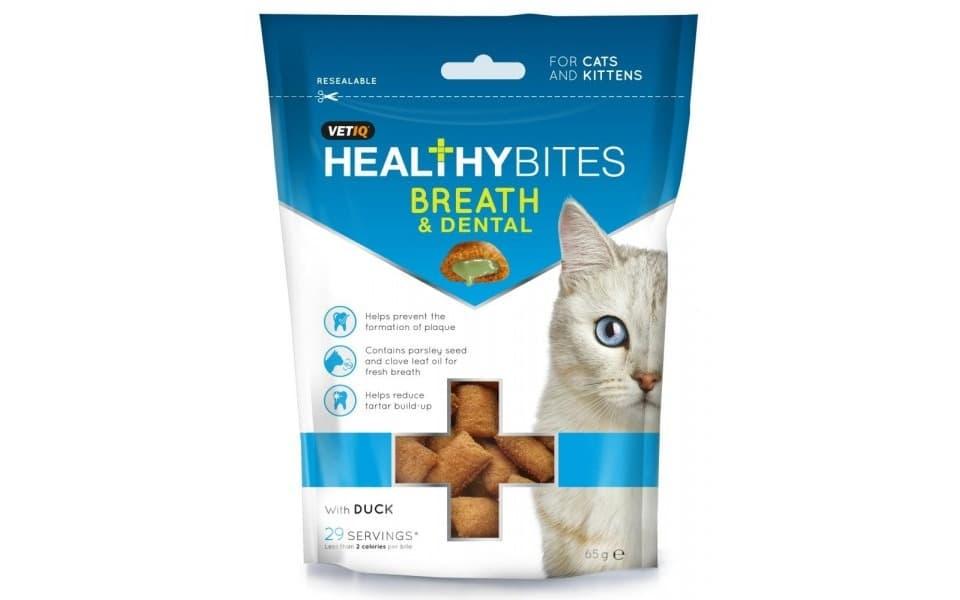 Punga cu recompense pentru pisici M&C Snack Breath&Dental.