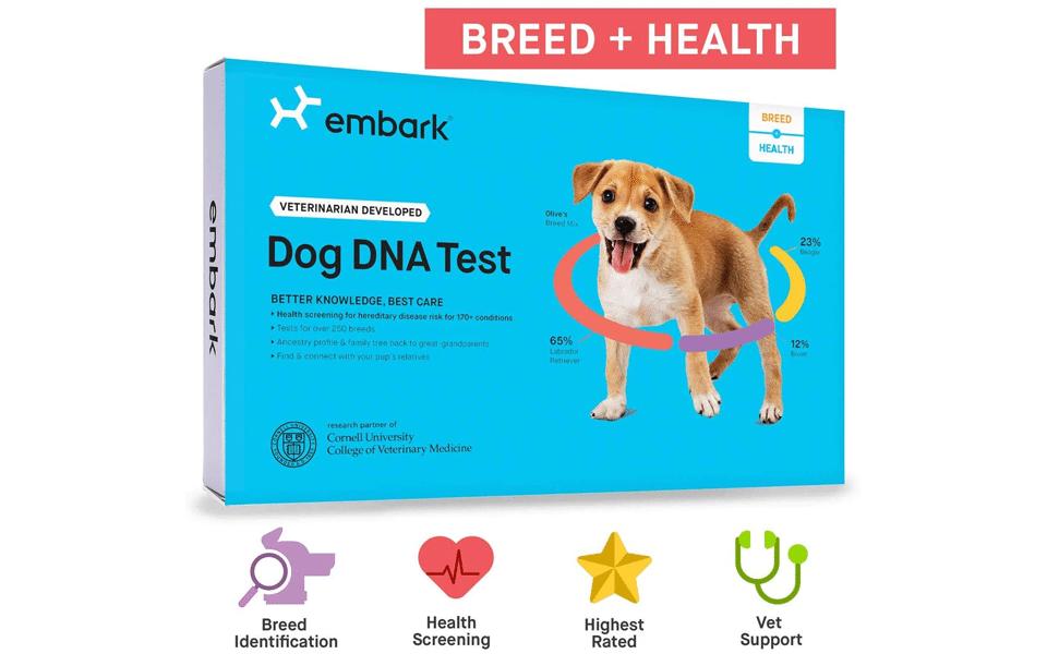 Cutie test ADN pentru caini Embark Dog DNA Test Kit.