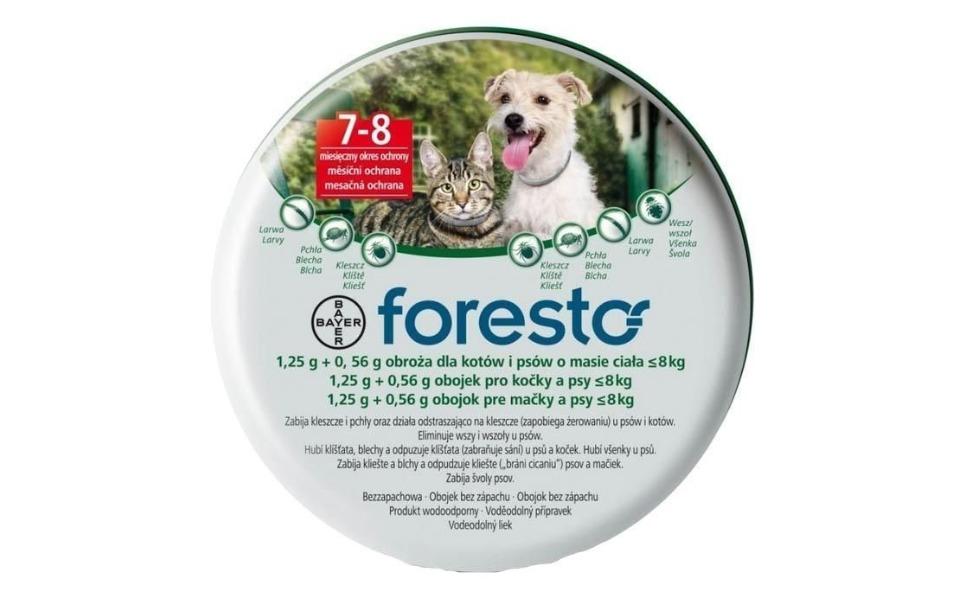 Cutie zgarda antiparazitara pentru pisici Foresto.