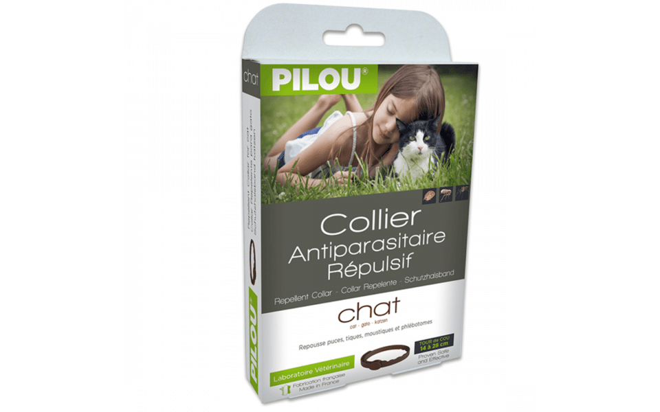 Zgarda antiparazitara pentru pisici Pilou.