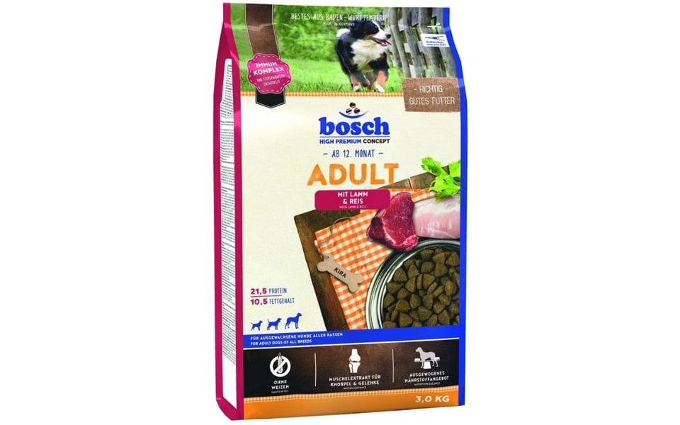 Sac cu mancare pentru caini Bosch miel și orez.