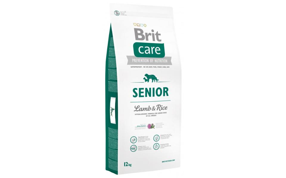 Sac cu mancare pentru caini Brit Care Senior.
