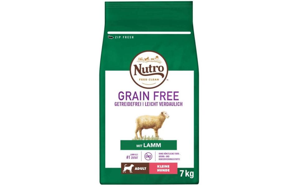 Sac cu mancare pentru caini Nutro Grain Free.
