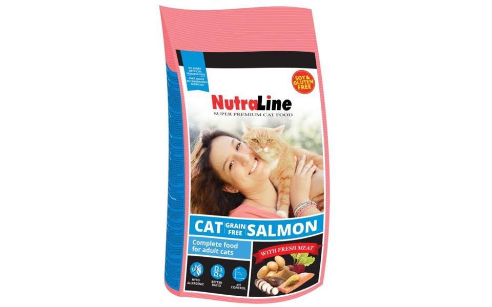Sac cu mancare pentru pisici Nutraline somon.