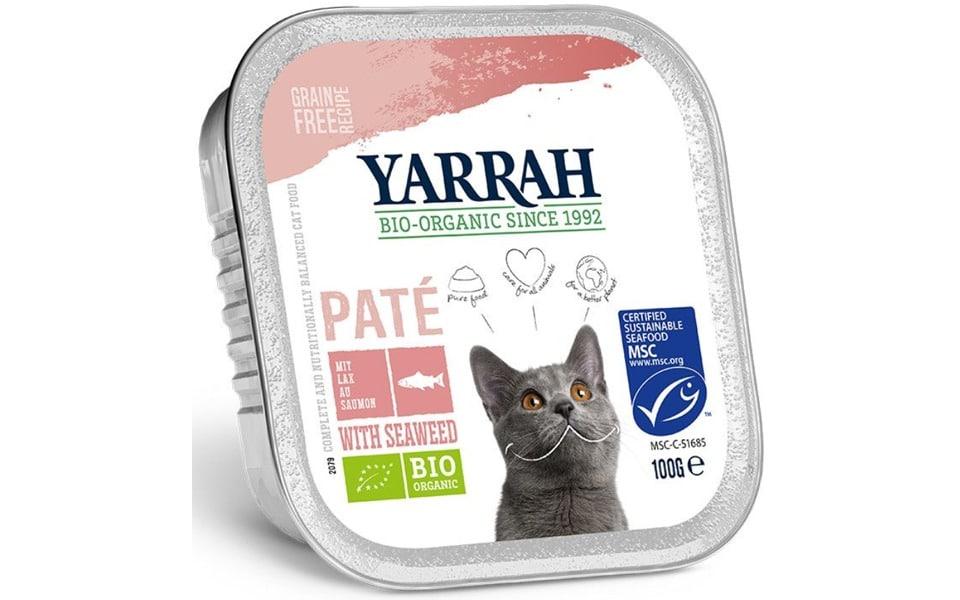 Conserva cu mancare pentru pisici  Yarrah bio.
