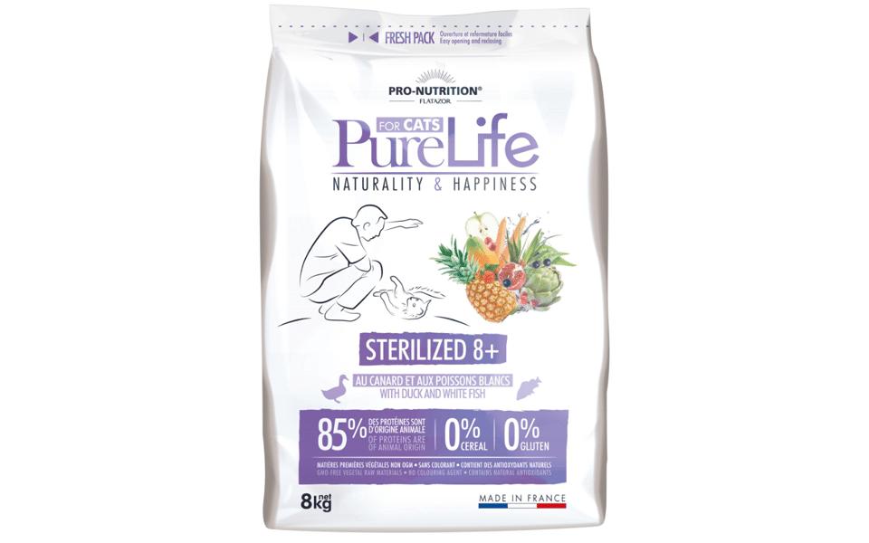 Sac cu mancare pentru pisici PureLife Sterilized.