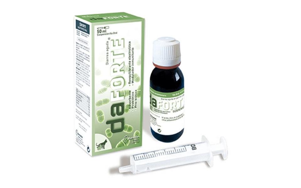 Seringa, cutie si flacon supliment probiotic pentru pisici Daforte.