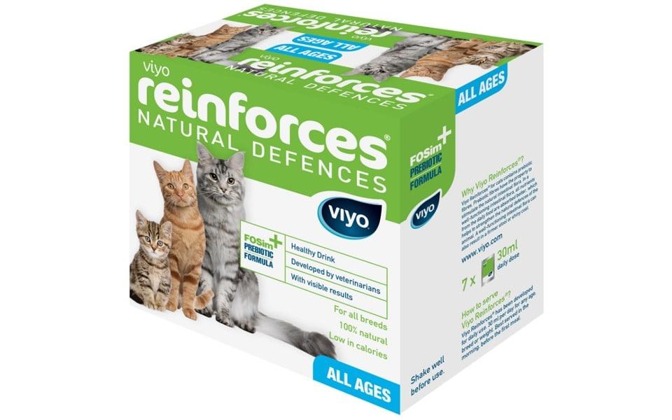 Cutie cu suplimente probiotice pentru pisici Viyo Reinforces Cat.