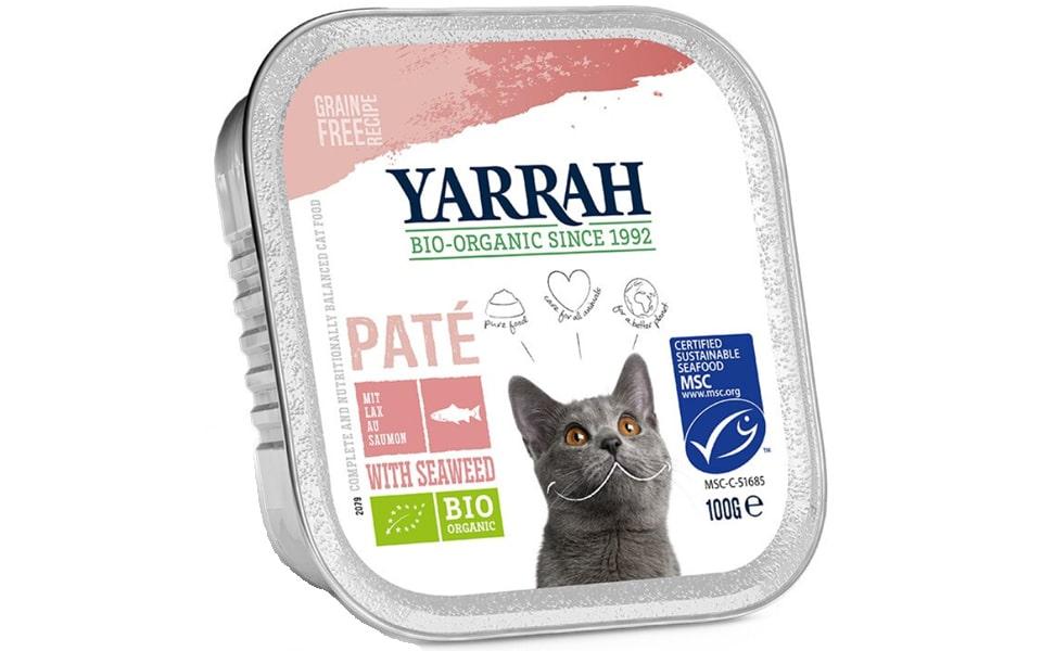 Conserva cu mancare umeda pentru puii de pisica Yarrah Bio.