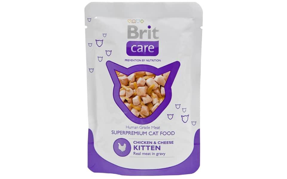 Punga cu mancare umeda pentru puii de pisica Brit Care Junior.