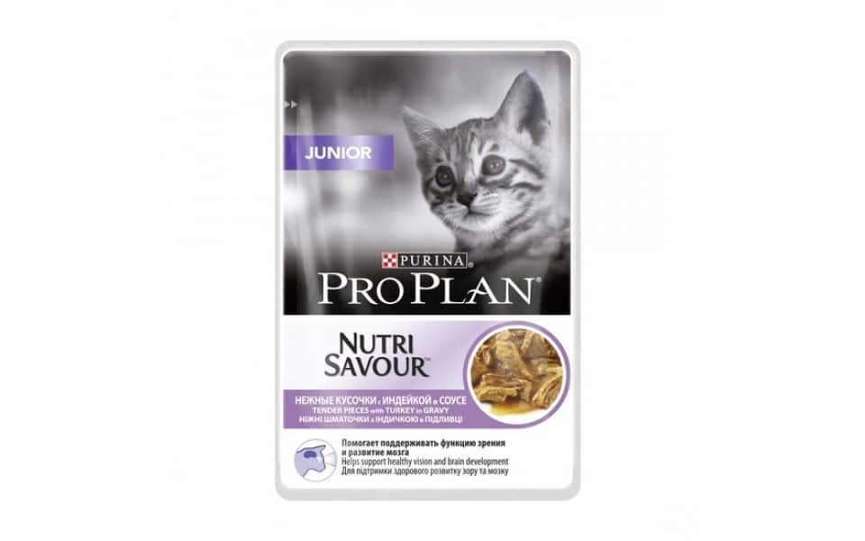 Punga cu mancare umeda pentru puii de pisica Pro Plan Junior.