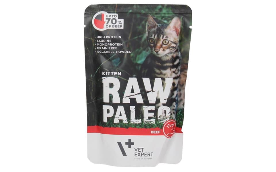 Punga cu mancare umeda pentru puii de pisica Raw Paleo Kitten.