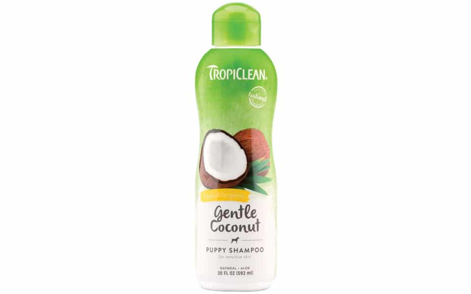 Sampon pentru caini Tropiclean Hipoalergenic Gentle Coconut.
