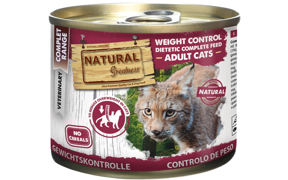 Conserva pentru pisici Natural Greatness Weight Control.
